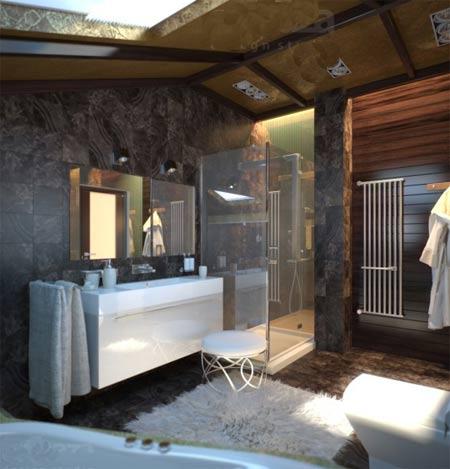 Ванная комната в частном доме: особенности прокладки 91