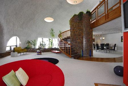 внутренняя отделка купольного дома