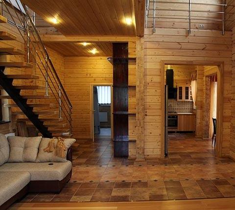 интерьер деревянный дом