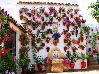 дизайн испанского внутреннего дворика