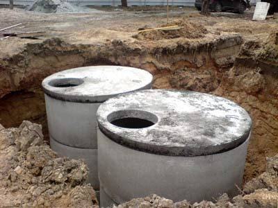 Канализация загородного дома своими руками из бетонных