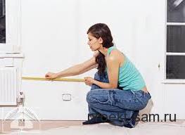 измерение площади комнаты в квартире рулеткой