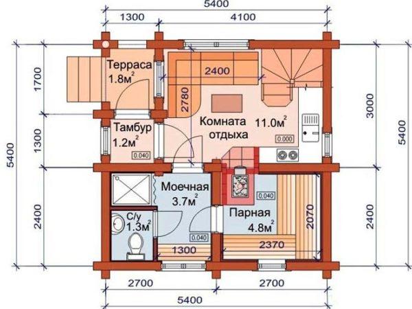 план комнаты отдыха