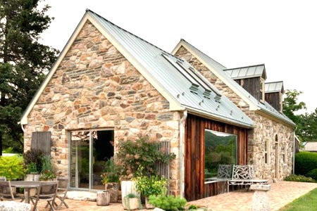 каменный одноэтажный дом