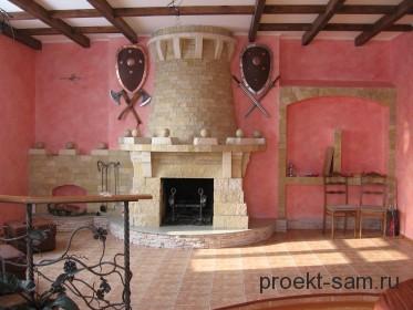 средневековый камин в частном доме