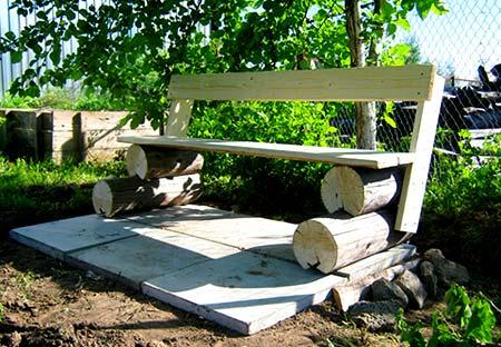 фундамент скамейки
