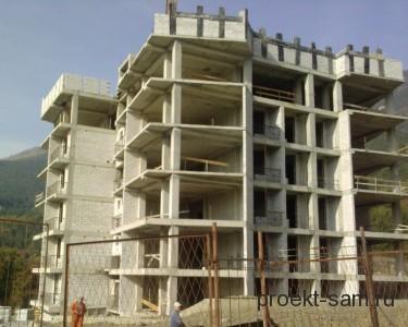 железобетонный каркас многоэтажного дома
