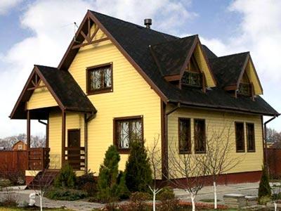 каркасный дом мансарда