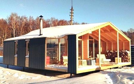 дизайн каркасный дом