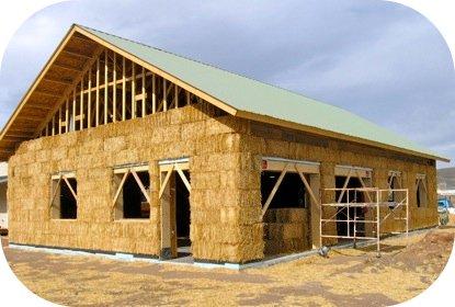 каркасный дом из соломы