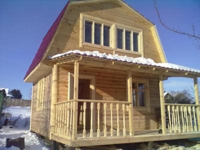 каркасный дачный дом с мансардой