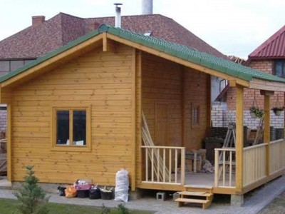 каркасный летний домик фото