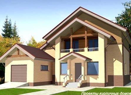 кирпичный дом гараж