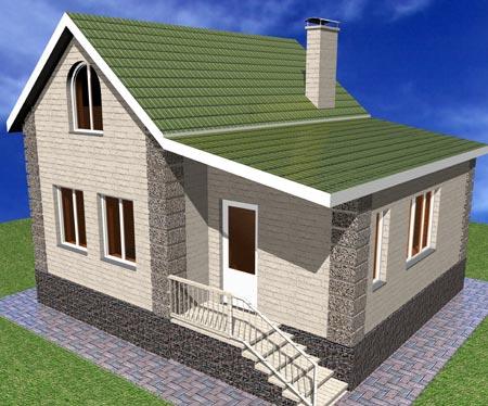 классический мини дом