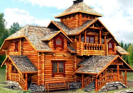 колоны террасы дом терем