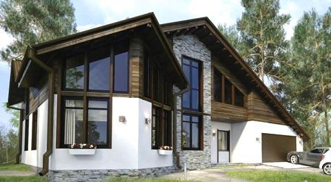 комбинированный дом гараж