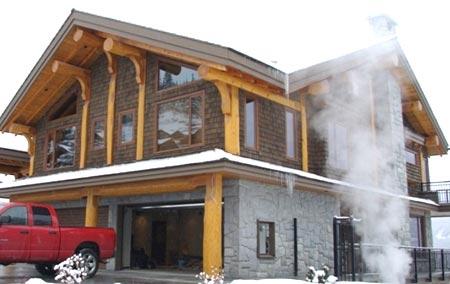 дом из камня дерева