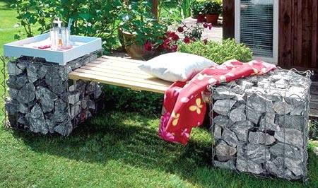 комбинированная скамейка