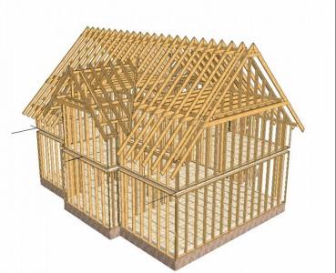 конструкция каркасного дома