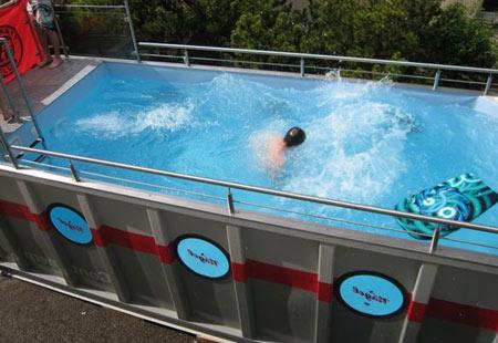 бассейн из контейнера