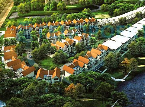 3d коттеджный поселок