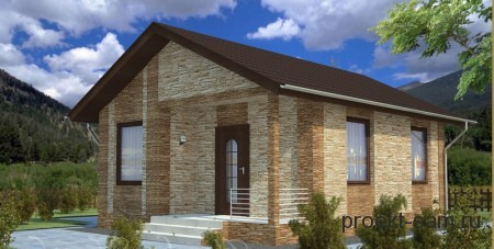 проект дома из газобетона до 100 кв м