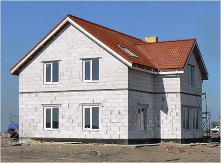 Пошаговое строительство дома с мансардой 100