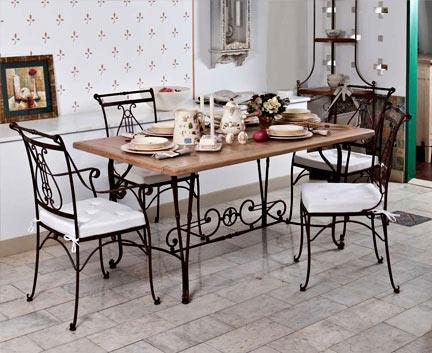 кованная мебель в стиле прованс