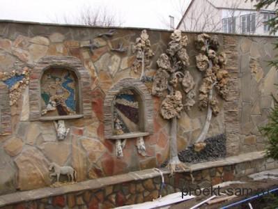 красивый каменный забор фото