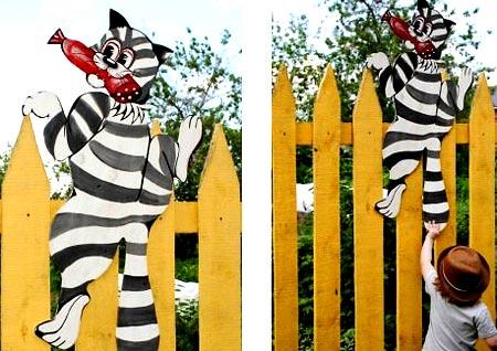 крепление фигуры на заборе
