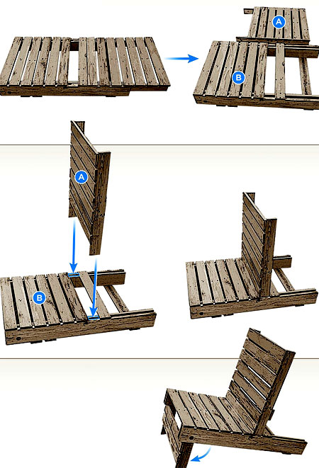 чертеж садового кресла