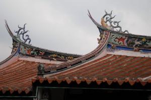 крыша китайского дома