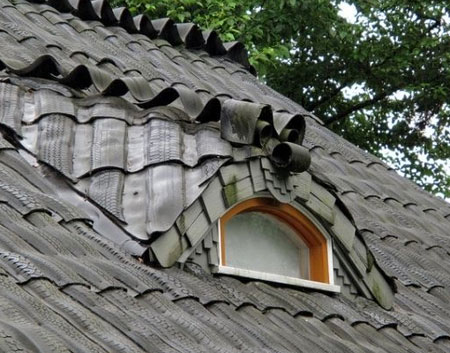 крыша из покрышек