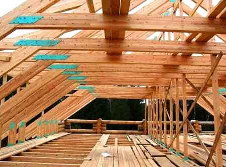 каркас крыша коровника
