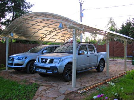 крытая стоянка на даче