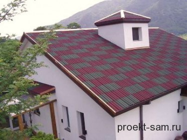 крыша частного дома из шифера
