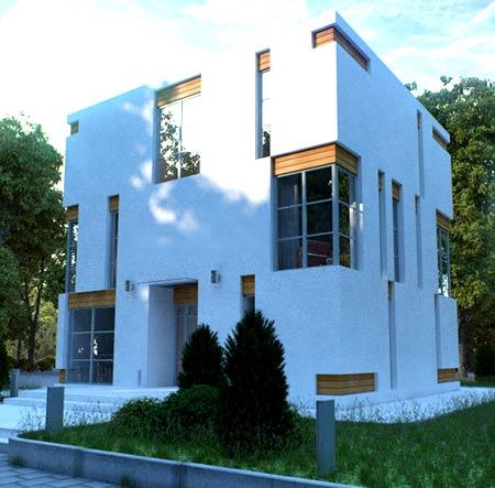 дом куб