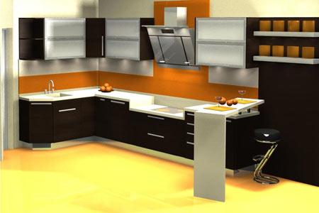 смоделированная модель кухни