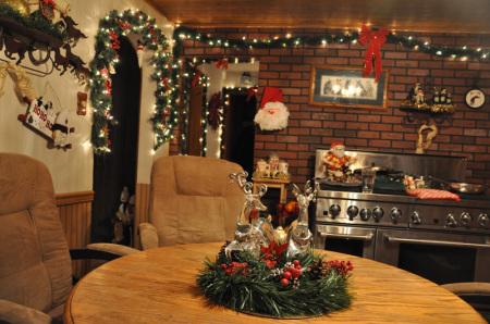 дизайн интерьера новогодней кухни