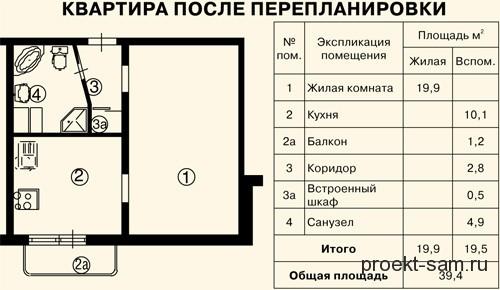 Планировка и перепланировка 1,2,3 комнатных квартир в панель.