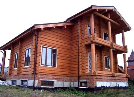 двухэтажный дом лафет
