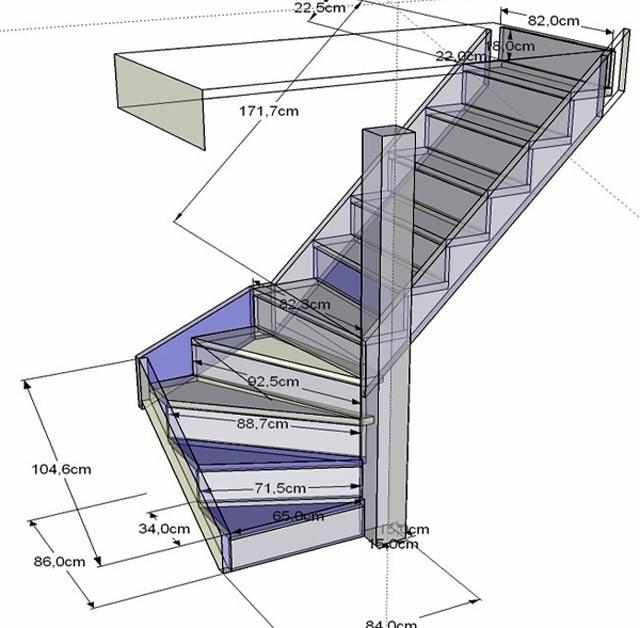 Фото лестница из профильной трубы своими руками чертежи 87