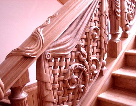 резная лестница