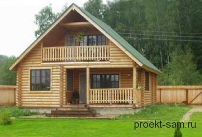 летний домик для дачи из бревен