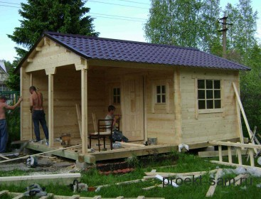летний домик построенный своими руками