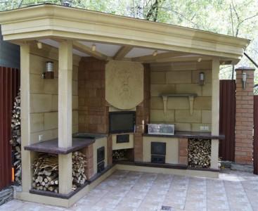 летняя кухня с духовкой