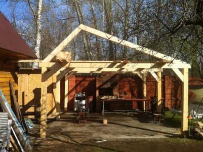 строительство крыши летней кухни