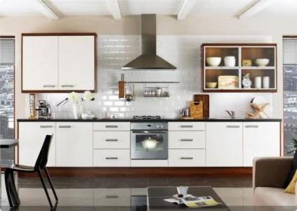 линейная планировка кухни в доме