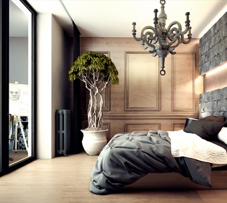 люстра в проекте квартиры
