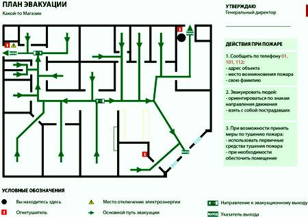 магазин план эвакуации
